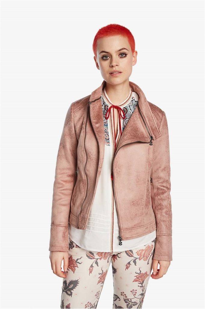 Biker bunda Desigual Millet rosa